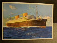 Ship TS BREMEN, NORDDEUTSCHER LLOYD Line Naval Cover unused postcard