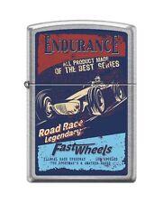 Zippo 207 ENDURANCE FAST WHEELS open wheel road race vintage poster RARE Lighter