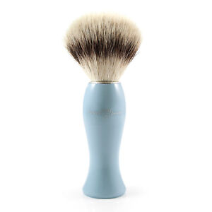 Edwin Jagger - Blue Shaving Brush with Synthetic Silver Tip in Gift Box