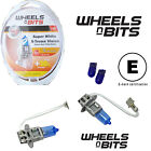 Super White H3 12v HALOGEN HID XENON GAS FILLED BULBS 55W+ 50% BRIGHTER = 100W