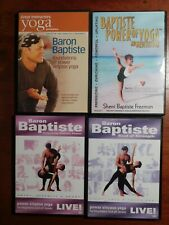 Baptiste Power Yoga (4) Dvd lot Guaranteed Baron Sherri Freeman Live Meditation