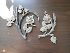 Vintage cast iron pieces roses