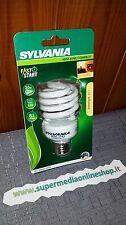 lampadina SYLVANIA RISPARMIO ENERGETICO E27 20 W POTENZA 95 W SPIRALE- CALDA