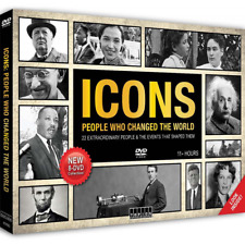 ICONS: PEOPLE WHO CHANGED THE WORLD 8-DVD COLLECTORS BOX SET 11 HOURS
