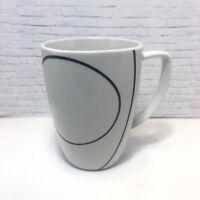 Corelle Coordinates Corning Coffee Tea Cup Simple Lines White Black