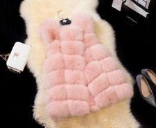 NewJacket Coat Warm Gilet Outwear Vest Faux Fox Fur  Women's Waistcoat 9*Colours