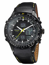 Accurist Skymaster Mens Analogue/Digital Watch With Black Leather Strap MS930BY
