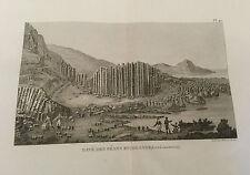 Pavé des Géans en Irlande - Ambroise Tardieu da Atlas Encyclopedique 1827