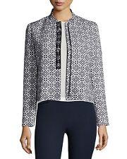 $495 TORY BURCH Embellished Jacquard Blazer Jacket - Sz 8