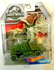 Jurassic World Hot Wheels Character cars Triceratops 3/5~NEW ~