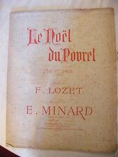 Partition Le Noel du Povret Noel du XVI ème Siècle Minard Lozet 1596