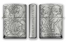 ZIPPO Lighter Re: Zero Starting Life In Another World Rem Ram Silver Brass Japan