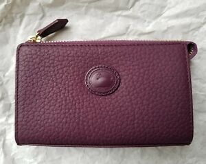 Dooney & Bourke Vintage Style AWL Cosmetic Case Aubergine Purple Plum