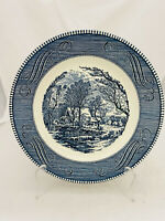 Set of 4 Vintage Royal China Currier & Ives The Old Grist Mill Dinner Plates