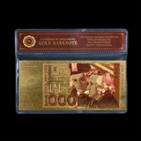 WR 1985 Germany 1000 Mark Gold Banknote Bill Note For Souvenir Gifts In Sleeve