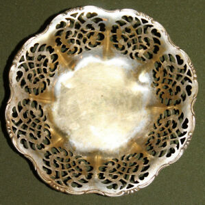 Vintage silver plated footed bowl