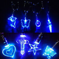 1 PC LED Blue Light Charm Magnetic Pendant Necklace Gift for Xmas Birthday Party