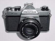 Pentax K1000 35mm Film SLR Manual Camera w/ Pentax M 50mm F1.7 SMC Lens ** Ex+++