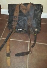 1860's Civil War Backpack Tarred Canvas FREE US SHIPPING