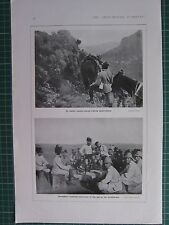 1918 WWI WW1 PRINT ~ ITALIAN CAVALRY MAKING OBSERVATIONS ~ BERSAGLIERI