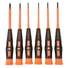 6 PC PRECISION INSULATED ELECTRICAL HAND SCREWDRIVER TOOL SET