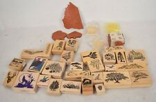 Lot of Over 35 Rubber Stamp Plants Trees Nature Park Animals