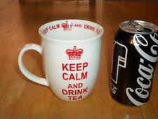 """"""" KEEP CALM AND DRINK TEA """", Ceramic Coffee Mug, Vintage, JUMBO SIZED"""