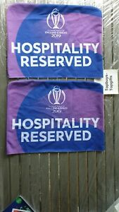 ICC Cricket World Cup Souvenir Official Hospitality Reserved Seat Covers VGC