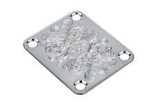 NEW Gotoh Engraved NECK PLATE for Fender Strat Tele Chrome Parts AP-0603-010