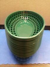 """9"""" x 6"""" OVAL RESTAURANT PLASTIC FOOD BASKET ( 6 OR 12 LOT ) PIC A COLOR/USA MADE"""