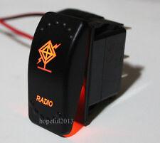 Car Rv Boat 5 Pin Amber Led Rocker Switch RADIO ON OFF Carling ARB Style 12V24V