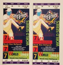 1999 Diamondbacks Phantom MLB World Series Ticket Yankees vs. Braves Game 7