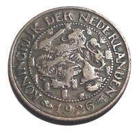 1926 NETHERLANDS 1 CENT IN NICE CONDITION