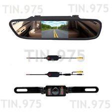 "4.3"" LCD Monitor Reversing Back Up Screen Camera Kit Wireless Rear View System"