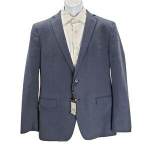 JOHN VARVATOS USA Men's BEDFORD Solid cotton Navy blue Jacket blazer Sz 44 L