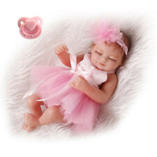 "10""Full Body Reborn Doll Baby Girl Real Looking Lifelike Vinyl Newborn Dolls"