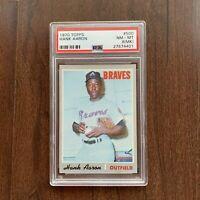 1970 Topps #500 Hank Aaron Atlanta Braves HOF - PSA 8 NM-MT (MK)