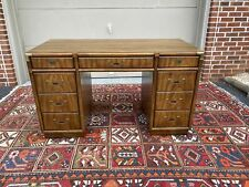 A Vintage Mid Century Drexel Heritage Accolade Campaign Style Desk 1970's