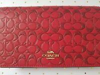❤ Coach GLITTER SIGNATURE LEATHER CROSSBODY ~ True Red  F88078  NWT Purse Clutch