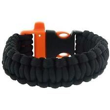 "The Olivia Collection Mens - Boys Black Paracord 9"" Survival Bracelet"