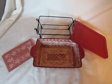 4 pc. set Temp-tations Presentable Ovenware Casserole Old World Red
