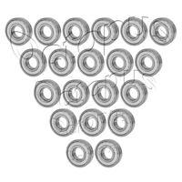 15 2 Pcs 6205 ZZ High Quality Ball Bearings 52 25 Metal Shields