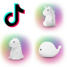 TikTok Famous Tommy Dinosaur Rylie Wally Whale White Multicolor Night Light Lamp