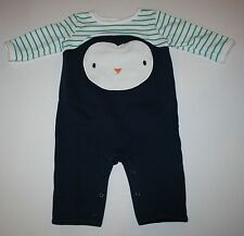 New Gymboree Penguin Face One Piece Outfit Romper Size 3-6 Months NWT Newborn