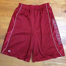 STARTER Mesh Ohio State Buckeyes Basketball Shorts - Red - Size XL 16-18 Boys