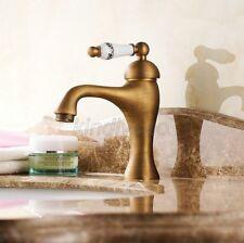 Antique Brass Single Handle Bathroom Sink Vessel Faucet Basin Mixer Tap
