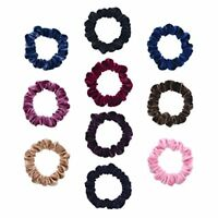 10 Pack Small Size Scrunchies Elastic Hair Ties for Women Hair Ropes