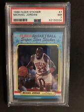 1988 Fleer Michael Jordan Sticker #7 PSA 7 card NEW CASE