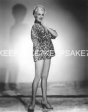 ACTRESS BARBARA HALE WEARING ONLY A SHIRT! - SEXY LEGGY 8 X 10 PHOTO A-BHALE