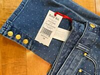 Ruby Rd Mom Jeans with dot pattern SIZE 12 NEW WITH TAG UNIQUE FIND